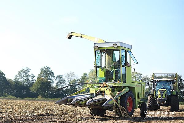 """Spektakel bij van Bakel 2017 """"oude oogstmachines"""""""